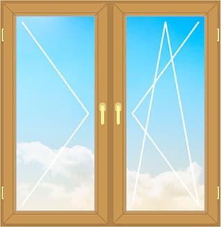 Деревянное окно из сосны 130х140 см